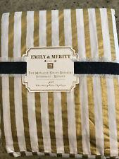 Pottery Barn Teen Emily and Meritt Metallic Stripe Bedskirt Full New