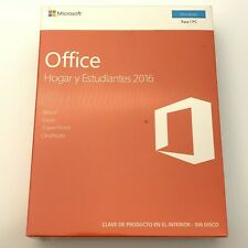 New Microsoft Home & Student 2016 Spanish Edition Office 28075 CP