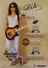 Eddie Van Halen 1999 Peavey Guitar Promo Poster #80304651