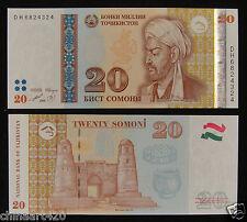 Tajikistan Paper Money 20 Somoni 1999 (2013) UNC