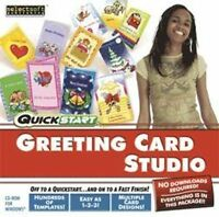 Quickstart Greeting Card Studio create beautiful thoughtful cards  XP Vista 7 8