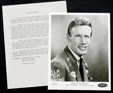 1960's Vintage Ernie Ashworth Press Bio & Photo Country Music Grand Ole Opry