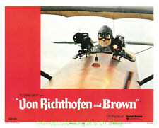 VON RICHTOFEN AND BROWN MOVIE POSTER 1971 LOBBY CARD Set Of 8 WWI Fighter Planes