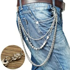 Trouser Pant Silver Chain Wallet Chains Biker Trucker Punk Hiphop Jean For Men