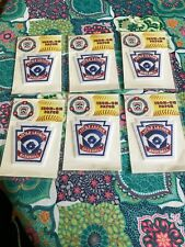 Little League Baseball patches (Lot Of 6)