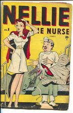 Nellie the Nurse #8 1947-Marvel-spicy hospital room cover-P