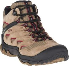 Merrell Chameleon 7 Limit Mid Waterproof Womens Brown Hiking Boots Shoes J31194