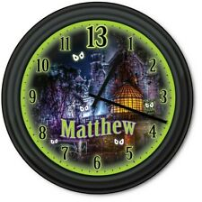 Haunted Mansion PERSONALIZED Wall Clock - Disney Halloween Spooky House - GIFT