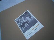 Catalogue voiture pub auto prospectus  pneu Dunlop SP sport