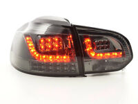 VW Golf Mk6 1K 2008-2012 Black Rear LED Tail Lights Taillights RHD FREE P&P