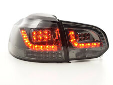 VW GOLF MK6 1K 2008-2012 neri LED Posteriore Tail lights taillights RHD Gratis P&P