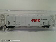 "MICROTRAINS 09900030 ""FMC CHEMICALS"" EVANS 3-BAY COVERED HOPPER MIB N SCALE"