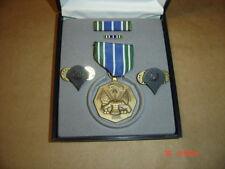 Us Army Military Achievement Medal Ribbon Tie Tack Bar pins in Presentation box