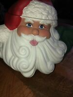 "Santa Claus Ceramic - Rare - Ceramic ""Glenview Mold""  Cookie Jar Hand Painted"