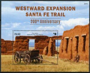 Palau Landscapes Stamps 2020 MNH Santa Fe Trail Westward Expansian Forts 1v S/S