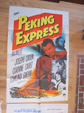PEKING EXPRESS Original film noir movie poster Joseph Cotten '51