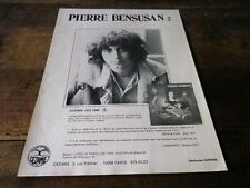 PIERRE BENSUSAN - Publicité de magazine / Advert !!! 2 !!!