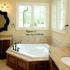Happiness Is taking a long hot bubble bath Vinyl Wall Decal Sticky Decor Letters