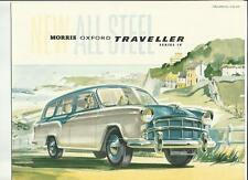 BMC  MORRIS OXFORD TRAVELLER SERIES IV SALES BROCHURE AUGUST 1957
