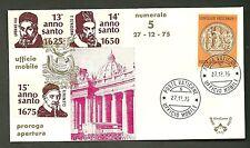 UFFICIO MOBILE n 5 PAOLO VI ANNO SANTO 1975 ANNI SANTI VARI ANNULLO 27 -12 -1975
