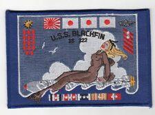 USS Blackfin SS 322 - WWII Battleflag BC Patch Cat No c5189