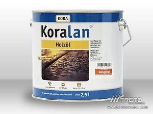 (€14,00/l) Koralan Öl 2,5ltr. Garapa, Bilinga, Massararanduba, Lärche, Bangkirai