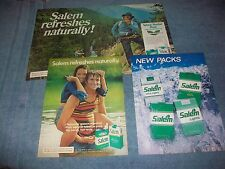 21 Salem Cigarettes Vintage Magazine Ads Lot from the 70's 80's 90's 2000's