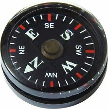 2cm 20mm Mini Button Pocket Survival Compass Camping Bushcraft Hiking Cadets