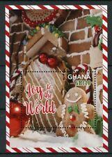 Ghana 2017 MNH Christmas Joy of World Gingerbread Man House 1v S/S Stamps