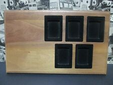 zippo-5 lighter solid wood wall mount display NEW