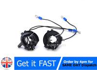 2x For VW Golf MK7 Scirocco Sharan H7 HID Sockets Bulb Holder Headlight Adapters
