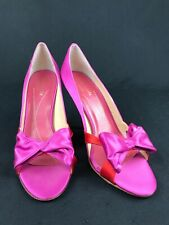 KATE SPADE NEW YORK Women's Pink/ Red Bow Heels/Pumps Size 8.5 Made In ITALY