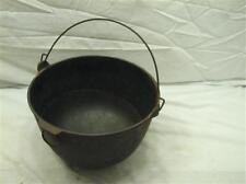 Wapak No.4 Cast Iron Gypsy Kettle Bean Pot Antique Cooking Cauldron Fireplace