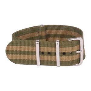 New arrival Green Stripe 18mm 20mm 22mm Buckle Nylon Watchband Watch Straps Band
