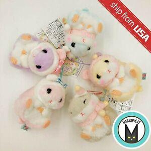 Genuine Japan Amuse Fluffy Coroham Coron Hamster Strap Charm Plush Cute Doll