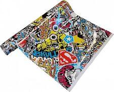 8�'�/m² Stickerbomb Folie 152 cm breit BLASENFREI JDM Shocker Sticker Folie flex