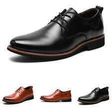 Men Dress Formal Business Faux Leather Shoes Pointy Toe Oxfords Work Office 44 L
