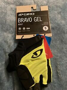 Giro Bravo Gel Adult Suede Cycling Gloves Small 7 Hi Yellow