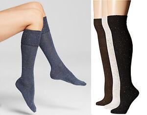 Hue Women's Socks Cuffed Tweed Knee Socks  One Size