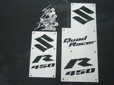 SUZUKI LTR450 LTR 450 LT450R CUSTOM FENDER WARNING TAGS PLATES EMBLEMS NEW!!