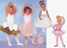 Childrens Unisex Ballet Dance Leotards Tutu Skirts & More! UNCUT Sewing Pattern