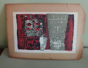 Vintage Antoni Clave S/N Abstract Art Limited to 75 Lithograph