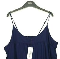 Ladies Top Cami Vest M&S / Blue Embroidered Modal Mix 22 BNWT Marks Sleep Women