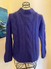 New listing Express Tricot Womens Sweater Cable Knit Angora Blend Size L