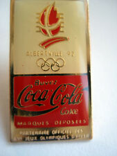 PINS VINTAGE JEUX OLYMPIQUES ALBERVILLE 92 COCA COLA COJO OLYMPIC GAMES wxc 31