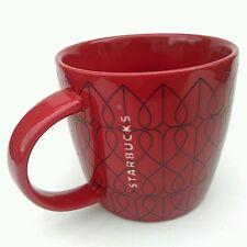 Starbucks Valentine's Day 2013  RED  LOVE  HEARTS ceramic coffee mug cup  14 oz.