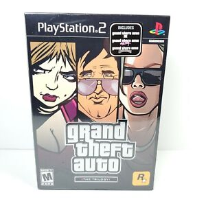 Grand Theft Auto Trilogy PlayStation 2 PS2 GTA 3 Vice City San Andrea NEW SEALED