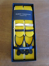 ALBERT THURSTON BOXCLOTH LEATHER END BRACES ONE SIZE GOLD/YELLOW