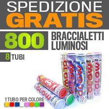 800 BRACCIALETTI LUMINOSI Fluorescenti Starlight PARTY fluo effetto feste- 30123