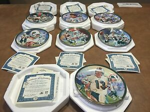 7 Bradford Exchange Dan Marino Commemorative Edition Collector Plates